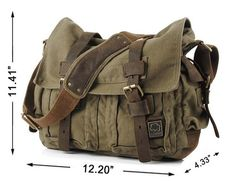 Military Canvas Messenger Bag - OMG *squee*