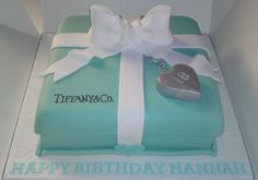 Tiffany Birthday Cake birthday cakes for girls eighteen birthday Fancy Cakes, Cute Cakes, Beautiful Cakes, Amazing Cakes, Secret Chocolate Chip Cookie Recipe, Tiffany Cakes, Tiffany Party, Tiffany Box, Birthday Cake Girls