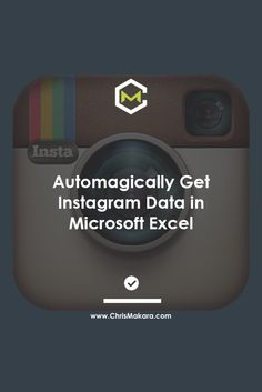 """""""While Instagram might not be for everyone, there are countless businesses getting started on Instagram. However, what if you need a quick glance into some Instagram user data? Sure, there might be some tools out there that can give you more detailed data…but I needed something quick and easy that would let me copy and paste a list of Instagram usernames into it and then give me some basic stats for the users."""" #instagram #excel…"""