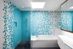 Vibrant Turqouise Bathroom