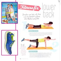 Strengthen your lower back with these fitness fixes by @Weight Watchers Australia #Fitness Editor, Martha Lourey-Bird, as seen in the WWM December issue wearing the #RYKA DESIRE lightweight #running #sneakers.