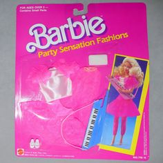 Barbie 1980s Pack Pak Fashion Party Sensation Arco Hot Pink Lace NRFP | eBay