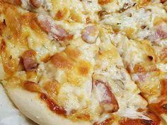 小麦粉のみ、発酵なしの豆腐入りピザ