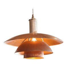 Super-cool Danish light fixture from 1938. I'm a sucker for copper...