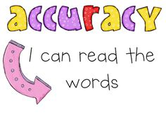 Posters for accuracy, comprehension, fluency, vocabulary.  Great for classroom walls.