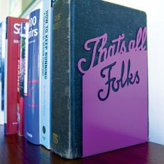 """that's all folks"" book end. clever!"