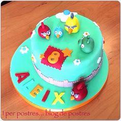 I per Postres... Blog de Postres: Pastís Angry Birds de Maduixa i Nutella
