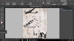 Banksy cover: Done by desaturating, posterizing, using hard light filter, and blending images to give it an on the wall effect through the use of Banksy's style
