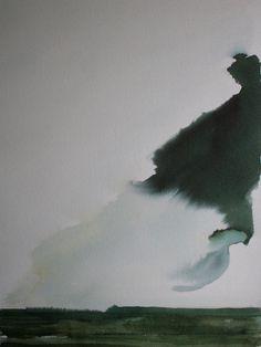 "Koen Lybaert; Watercolor 2013 Painting ""Saurimo"""