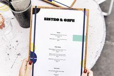Bistro and Cafe Menu Mockup - Free Download Cafe Menu, Menu Restaurant, Simple Business Cards, Mockup, Free, Terrace, Inspiration, Biblical Inspiration, Sidewalk Cafe