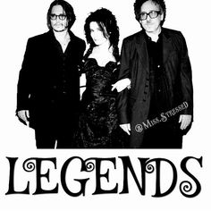 #JohnnyDepp #HelenaBonham #HelenaBonhamCarter #TimBurton #Legendary #Trio #EdwardScissorhands #EdWood  #SleepyHollow  #CharlieandTheChocolateFactory #CorpseBride #SweeneyTodd  #AliceinWonderland #AliceThroughtheLookingGlass