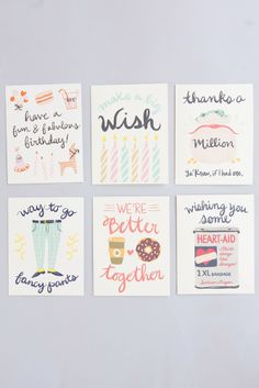 greeting card 6 pack umba - Birthday Card Packs