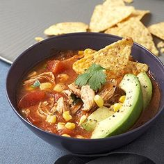 Healthy Mexican-style Chicken Soup