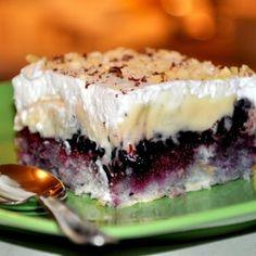 Modrý koláč Cheesecake, Desserts, Food, Tailgate Desserts, Deserts, Cheesecakes, Essen, Postres, Meals