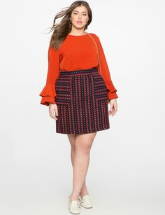 Looking to add some ruffles to your wardrobe this Spring? We found 10 plus size fashion forward options from our fave retailers, for your curves and your closet!   Walk into Monday with this chic look from plus size retailer, Eloquii.com.  Seeing Ruffles: 10 Fancy & Feminine Must Have Ruffle Blouses http://thecurvyfashionista.com/2017/03/fancy-feminine-ruffle-pieces/