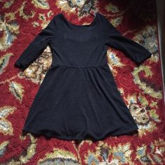 Black Dress Black dress with dip in back. Gently worn and in good condition. Size L. Lily Rose Dresses Mini