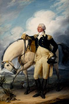 "<em>Washington at Verplanck's Point.</em> By John Trumbull, New York, New York; dated 1790. Oil on canvas. (Unframed) Height: 30"" (76.5 cm); Width: 20"" (51.1 cm). <em>1964.2201</em>"