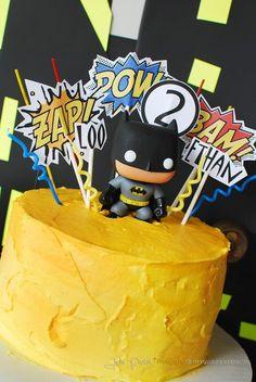simple batman birthday cake – could easily sub another superhero  | followpics.co