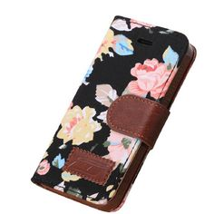 Iphone 5 Case, Shensee Fashion Flip Magnetic Wallet Floral Jacquard Leather Cover Case for Iphone 5c, Women Bag, Dirt-resistant, Anti-knock, Rhinestone Case, Compact, Elegant, Stylish, Card Slots for Carrying Id, Cash and Credit Cards (Black). Material:PU Leather + Plastic, Compatible for iPhone 5C. Stand flip design : freely and relaxed to enjoy video, movies, E-book, pictures etc. Wallet Case: card slots for carrying ID, cash and credit cards. Extreme Protection from drops and…
