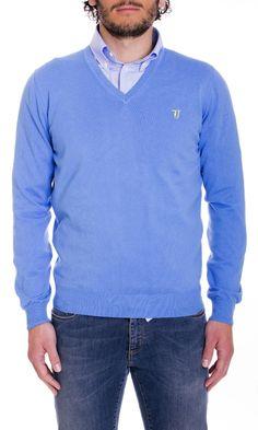 Trussardi Jeans | Maglia Trussardi Jeans Uomo Scollo V Col. Pervinca - Shop Online su Dursoboutique.com 520001