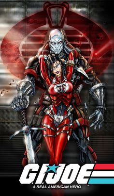 Destro and Baroness gi joe by *jamietyndall on deviantART