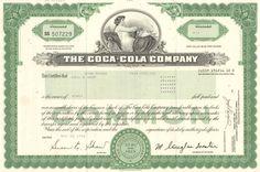 Corporate Bond Certificate Template Awesome Coca Cola Stock Certificate 1 Share Par Value 0 25 Per Coca Cola Stock, Coca Cola Bottling Company, Dow Jones Index, Corporate Bonds, Cisneros, Marketing Tactics, Certificate Templates, Monopoly Cards