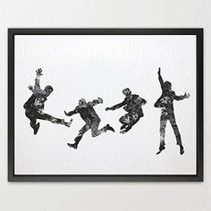 $19.00  - Dignovel Studios 8X10 Beatles Inspired Watercolor illustration Art Print Nursery decor watercolor Print Home N216 ** Continue to the product at the image link. (This is an affiliate link) #WallStickersMurals
