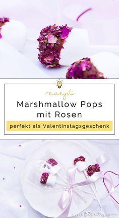 Last Minute DIY Geschenkidee für Valentinstag: Schnelles Rezept für Marshmallow Pops mit Rosen | Geschenke aus der Küche | Filizity.com | Food-Blog aus dem Rheinland #valentinstag #geschenkidee #smores