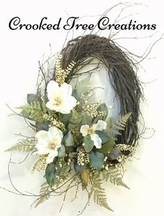 One Of A Kind Wreaths, Arrangements And Floral Decor by CrookedTreeCreation Easter Wreaths, Holiday Wreaths, Crooked Tree, Fall Swags, Magnolia Wreath, Summer Wreath, Spring Wreaths, Wedding Wreaths, Grapevine Wreath