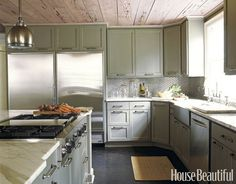 Cabinets and ceiling
