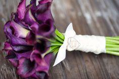 purple calla lily bouquet by Fancy Bloomers | Captured by http://www.erinoneilblog.net/