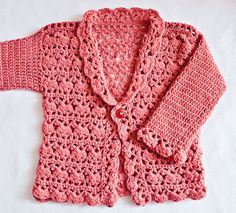 New crochet pattern you'll love - Harriet Lace Cardigan! Sizes - newborn up to 8 years!