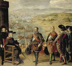 """""""Defensa de Cádiz contra los ingleses"""", Francisco de Zurbarán. Óleo sobre lienzo, 1634"""
