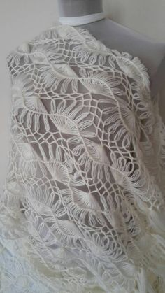 Check out this item in my Etsy shop https://www.etsy.com/listing/235645582/hairpinlace-scarf-ivory-scarf-crochet