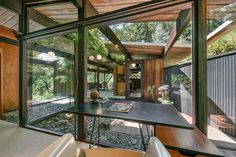mid century house -- This mid century home by Roger Lee was designed in 1954 and completed in 1955. (the Wilkinson house)