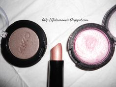 M.A.C. Young Venus Extra dimension eyeshadow, Kiko eyeshadow n.124, Madina lipstick