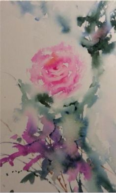 Jean Haines - Rose demonstration