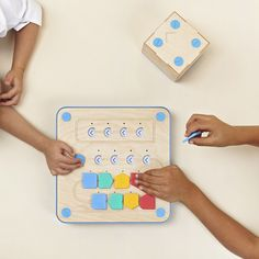 Cubetto is a wooden robot designed to teach toddlers how to code