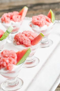 Strawberry watermelon rum granita - so simple to make - Can be whipped ...