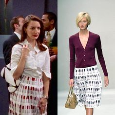 CRUCIAL SKIRTPrada's S/S 2000 collection is fucking legendary and the pleated lipstick skirt, modeled by the divine @maggierizer at right, has since become one of the label's most iconic and coveted pieces. So it is only fitting that Charlotte wore this skirt twice in Season 3, first in episode 4, and more prominently in episode 7 when she meets Trey. On a related note, if you are a vintage dealer who is currently in possession of a piece featured on Sex & the City, pls hit us up at every...