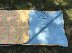 60's Wenzel Sleeping Bag Bright Mod Flowers Mid Century