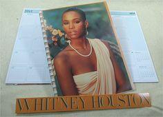 WHITNEY HOUSTON Recycled Record Album Cover 2014 Planner Organizer Calendar / Self Titled 1985 Debut Album