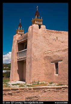 San Jose de Gracia adobe church. Las Trampas