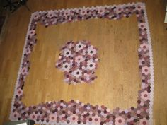 Rahmen und Mittelteil hexagon quilt
