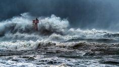 Heavy seas.
