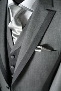 grey wedding suit nice tones