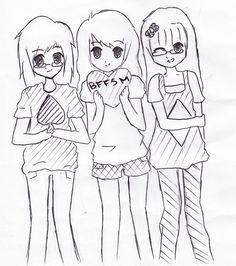 drawings friends friend easy bff