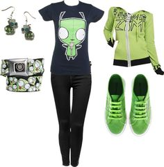 """""""Invader Zim (Mostly Gir Though)"""" by yumyum237 ❤ liked on Polyvore"""