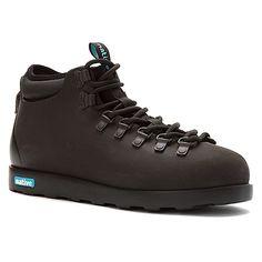 Native Women's Fitzsimmons Boot Rain Boot, Jiffy Black/Jiffy Black, 5 B US Native Shoes, Liner Socks, Nativity, Hiking Boots, Rain Boots, Athletic Shoes, Women Jewelry, Footwear