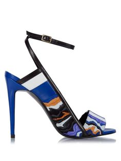 Pierre Hardy Marble-effect leather sandals